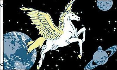 MYSTICAL PEGASUS SPACE 3X5 FLAG FL614 creature unicorn majestic planets decor