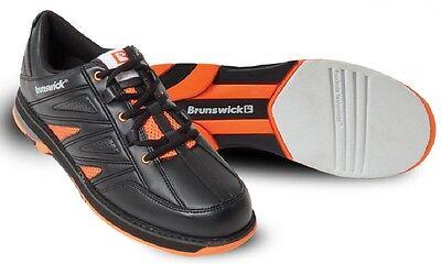 Mens Brunswick WARRIOR Black & Orange Bowling Shoes Size 11 1/2