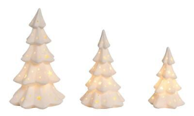 CHRISTMAS CLEARANCE!! Porcelain Light up Tree Decor SET of 3