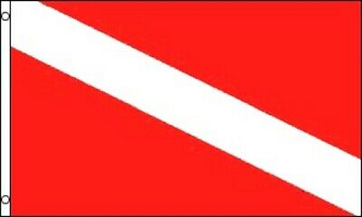 Diver Down Flag Scuba Diving Banner Dive Marker Boat Pennant New 3x5 ()