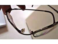 MEN - AIRFLEX - EYES WARE MEMORY METAL FRAME - 50-19-140 - SILVER - IN PESTINE CONDITION