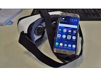 Samsung Galaxy S7 Edge (Unlocked) Gold with Gear VR