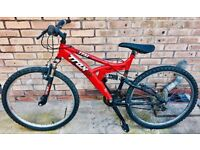 MUST GO - 🔥 Hot 🔥 Red Mountain Bike with Full Suspension 🚲