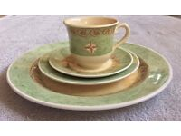 Winston morocco ports of call style dining set (plates, saucer, bowls, cups)