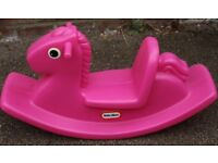 Little Tikes Pink Rock Horse