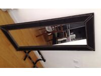 Faux Leather Framed Mirror