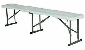 Brand New Lifetime 6ft Folding Steel Bench