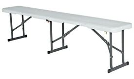 Brand New Lifetime 6ft Folding Steel Bench No866/6477