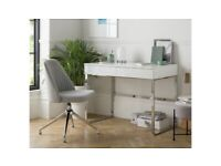 Habitat Sammy 2 Drawer Desk - White Gloss A- (1839)