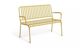 Indu 3 Seater Metal Bench - Yellow A-
