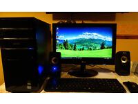 Gaming i7 desktop PC set with monitor and accessories , Ashford,Kent
