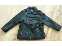 Boys faux leather jacket age 3-4 yrs