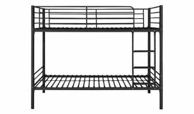 Home Mason Metal Bunk Bed Frame - Black No895/9555