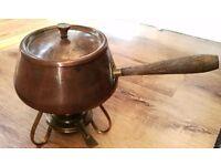 Antique brass fondue