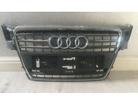 AUDI A4 RADIATOR GRILL OFF 2009 PLATE WITH AUDI BADGE
