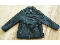 Boys faux leather jacket age 3-4 years