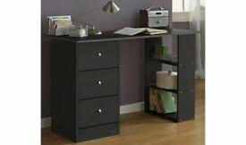 Malibu 3 Drawer Office Desk - Black A- (4067)