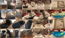 BARGAIN BUNDLE - 2 x PRAMS, ELECTRIC BABY CHAIR, BABY CAR SEAT AND MORE......