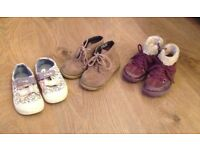 Infant girls shoes size, 5 and 6.5