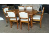 """""""Ducal """" Solid Pine Extendable Dining Table and 6 Chairs"""