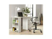 Malibu 3 Drawer Office Desk - White A- (4911)