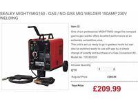 SEALEY MIGHTYMIG150 - GAS / NO-GAS MIG WELDER 150AMP 230V WELDING