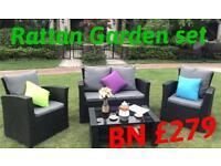 Garden rattan furniture 4piece set