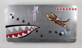 Flying Tigers P 40C WW2 Aircraft Nose Wall Art Panel