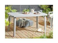 Home Rectangular 6 Seater Garden Table - Light Grey B (5112)