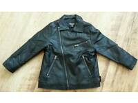 Boys faux leather jacket age 3-4 yrs