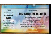 Brandon block tickets for sale 23rd Feb