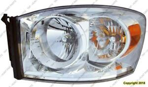 Head Light Driver Side Without Lower Amber High Quality Dodge Ram 2007-2008