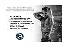 LOSE FAT, TONE UP, BUILD MUSCLE BODY TRANSFORMATION! 50% OFF FIRST SESSION