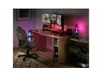 Home Gaming Desk - Oak Effect A- (5767)