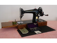 Singer 201K Hand Crank Sewing Machine - Immaculate Condition