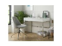 Habitat Sammy 2 Drawer Desk - White Gloss A