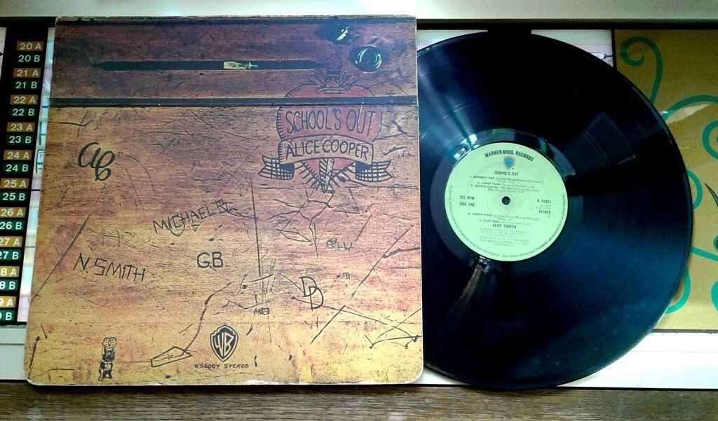 Alice Cooper – School's Out, VG, released in 1972, Heavy Rock Vinyl Record LP