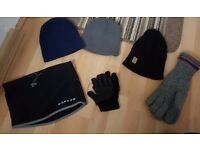 Mens hats & gloves £1 each