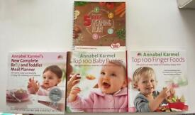 Baby weaning bundle - cook books, purée storage trays and suction plate.