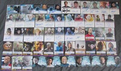 2017 Star Trek Beyond Autograph Card SET - 52 Cards Simon Pegg Scarce Chris Pine