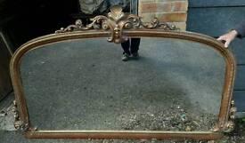 Antique Victorian over-mantel mirror