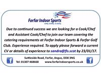 Cook/Chef and Assistant Cook/Chef Required For Busy Sporting Facilities.