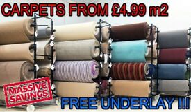 CARPETS FROM £4.99 SQM FREE UNDERLAY FAST FITTING AND DELIVERY**LIMITED TIME SPECIAL OFFER**