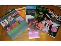 DRUM BOOKS x 6 - For Sale as a bundle - a range including RHCP, some with CDs and a Drum Guide