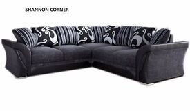 BRAND NEW SHANNON SOFA 3+2 sofas or corners in stock now + many more + double bed beds