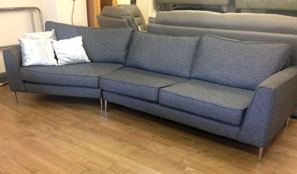 Marvelous Reduced Glittery Fabric 4 Seater Designer Curved Sofa In Alvaston Derbyshire Gumtree Machost Co Dining Chair Design Ideas Machostcouk