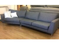REDUCED!! - GLITTERY FABRIC - 4 Seater Designer Curved Sofa