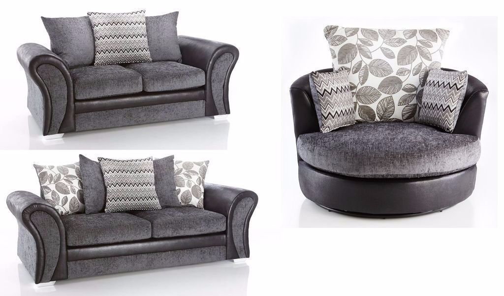 Starlet 3 2 Sofa Set In Grey Comfy Sofas Cuddle Chair Also Available