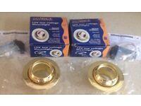 Two New Brass eyeball downlights