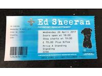 Ed Sheeran - Nottingham 26th April - Standing x1